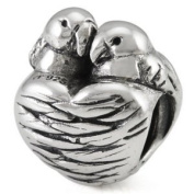 Ohm Love Birds European Bead