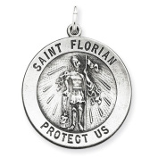 Sterling Silver Antiqued Saint Florian Medal.