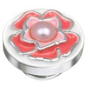 Kameleon Enamelled Pink Flower with Pearl Centre JewelPop * Jewelpop Authentic Silver New KJP625