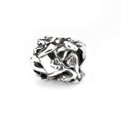 Novobeads Green Thumb Sterling Silver Charm Bead - Made in USA w imported materials - Fits all major bead bracelets