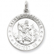 Sterling Silver Saint Christopher Medal. Metal Wt- 3.89g