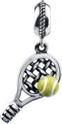 Kera Tennis Dangle in Sterling Silver - Fits Most Pandora Bracelets