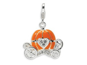 Amore LaVita(tm) Sterling Silver 3-D Enamelled Carriage w/Lobster Clasp Charm for Charm Bracelet