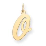 14k Yellow Gold Large Script Initial O Charm. Gold Wt- 0.55g.