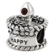 Ohm January Birthstone Crystal Birthday Cake European Bead