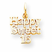 Genuine 10K Yellow Gold Happy Sweet 16 Charm 0.7 Grammes Of Gold