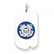 Sterling Silver US Coast Guard Dog Tag
