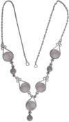 Rose Quartz Necklace - Sterling Silver