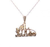 14K Yellow Gold God Mother Charm