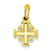 14K Yellow Gold Jerusalem Cross Pendant Jewellery