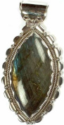 Labradorite Pointed Oval - Sterling Silver