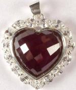 Cubic Zirconia Valentine Pendant - Sterling Silver