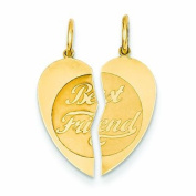 Genuine 14K Yellow Gold 2Pc Best Friend Charm 0 .6 Gramme Of Gold