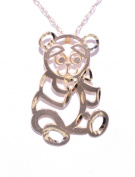 14K Yellow Gold Teddy Bear Charm