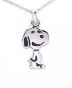 14k White Gold Snoopy Charm