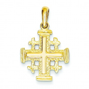 14K Yellow Gold Jerusalem Cross Pendant Charm