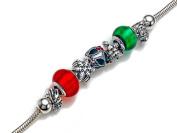 Zable (tm) ChristmasTheme Bracelet Bead / Charm in 925 Sterling Silver