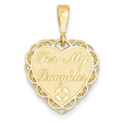 14k For My Daughter Charm