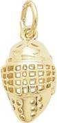 Rembrandt Charms Hockey Mask Charm, 10K Yellow Gold