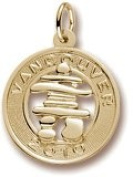 Rembrandt Charms Vancouver Inukshuk Charm, 10K Yellow Gold