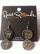 Earring 20 Gauge Double Dangle Silver Winchester
