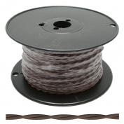 ADL 27735 - 250' Antique Twisted Brown Cord 20AWG Wire Spool