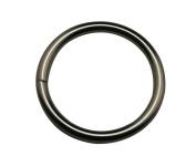 Generic Metal Silvery 3.2cm Inside Diameter Monocyclic Ring Single Ring Handbag Or Luggage Accessories