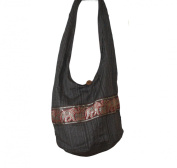Hippie Elephant Sling Crossbody Bag Purse Thai Top Zip Handmade New Colour Brown ELB-02