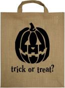 HomArt Jute Trick-Or-Treat Totes Bag, Cat and Pumpkin