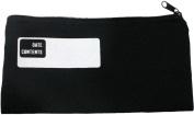 HomArt Canvas Zipper Pencil Bag with Logo, Black