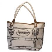 Santa Barbara Design Studio JKC Rope Handled Canvas Tote Bag, Emotional Baggage