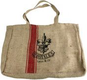 HomArt Twill Tote with Red Ticking, Royal