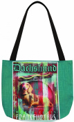 Manual Woodworkers & Weavers Dog Crossing Dachshund Tote Bag, 41cm by 36cm
