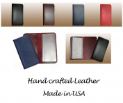 Red 100% Genuine Leather Chequebook Cover Wallet for Duplicate Cheques
