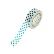 Japanese Washi Masking Tape - Dot Bottle Green