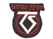 """TWISTED SISTER TS Logo Embriodered Iron On Patch 3.5""""/8.8cm x3.4""""/8.7cm By MNC Shop"""
