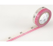 Japanese Washi Masking Tape - Number Pink