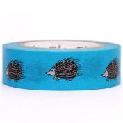 blue hedgehog mt Washi Masking Tape deco tape