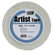 Economy White Artists Tape 0.6cm X 60yds