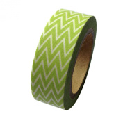 Dress My Cupcake DMC41WT1113 Washi Decorative Tape for Gifts and Favours, Classic Kiwi Green Chevron