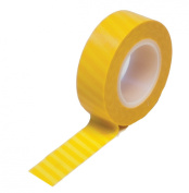 Dress My Cupcake Washi Decorative Tape for Gifts/Favours, Circus Stripes, Yellow