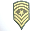 """Sergeant Major Stripes Army Navy Military Iron On Sew On Embroidered Patch 3.9""""10cm x 2.4""""/5.4cm"""