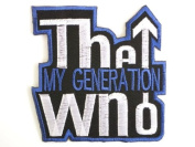 """THE WHO Generation Iron On Embroidered Patch 2.9""""/7.5cm x 2.9""""/7.5cm By MNC Shop"""