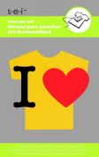 Sew Easy Industries 1-Sheet 'I Heart' Transfer, 7.6cm by 5.1cm