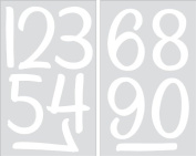 SEI 10cm Numbers Iron on Transfers, White, 2 Sheets