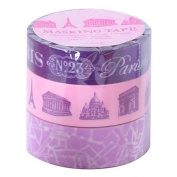 Japanese Washi Masking Tape Set of 3 - Mark's Japan Plum