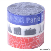 Japanese Washi Masking Tape Set of 3 - Mark's Japan Blue