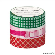 Japanese Washi Masking Tape Set of 3 - Mark'sphere Vitamin Supplements Green