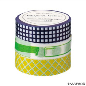 Japanese Washi Masking Tape Set of 3 - Mark'sphere Vitamin Supplements Navy