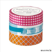 Japanese Washi Masking Tape Set of 3 - Mark'sphere Vitamin Supplements Pink